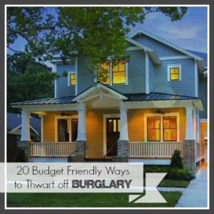 20 budget friendly ways to thwart burgarly